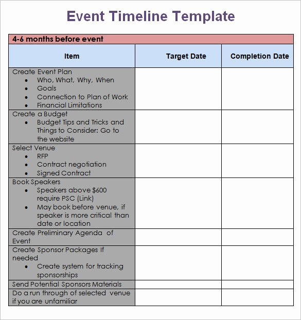Free event Planning Template Fresh Templates & Examples Of event Planning Timelines Gevme Blog