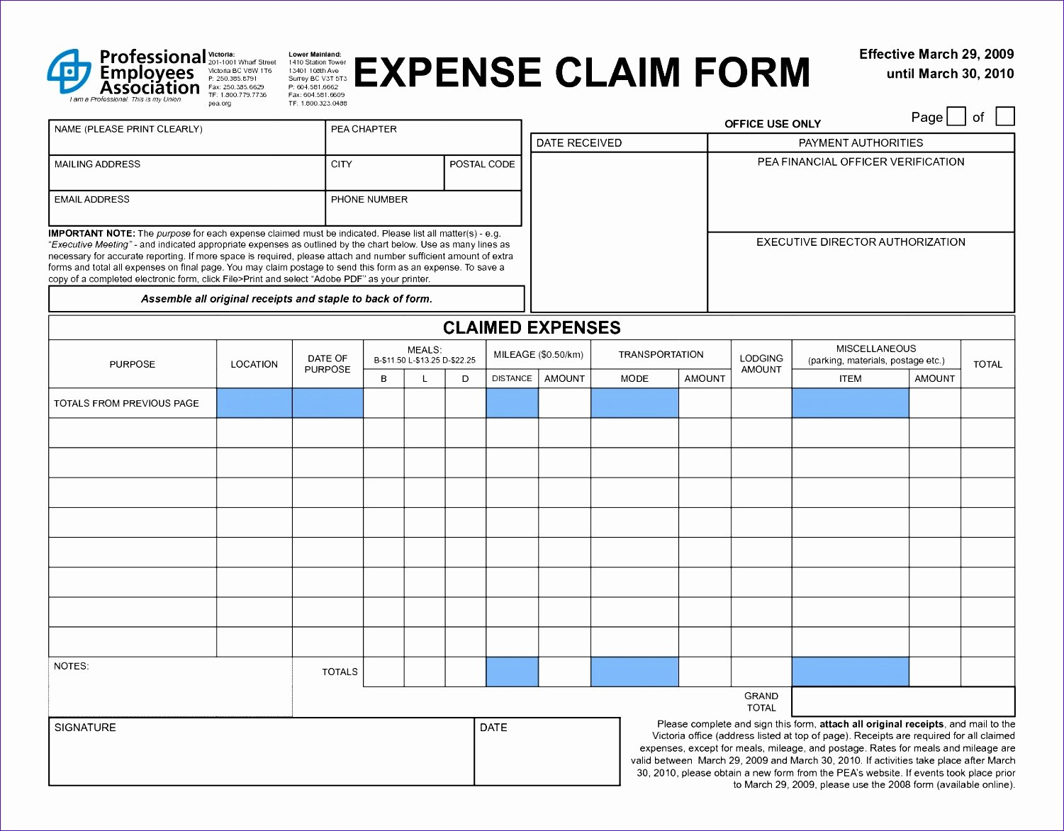 Free Expense form Template Inspirational 11 Expense Claim form Template Excel Exceltemplates