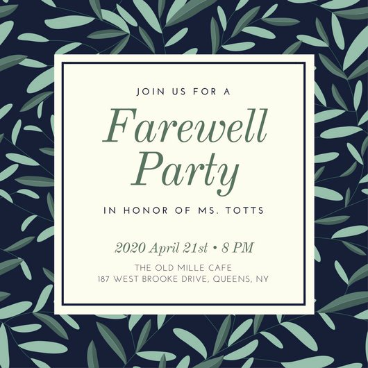 Free Farewell Invitation Template Beautiful Farewell Party Invitation Templates Canva