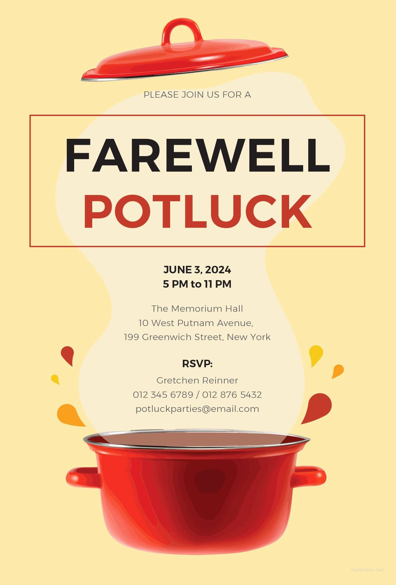 Free Farewell Invitation Template Beautiful Free Farewell Potluck Invitation Just Cool