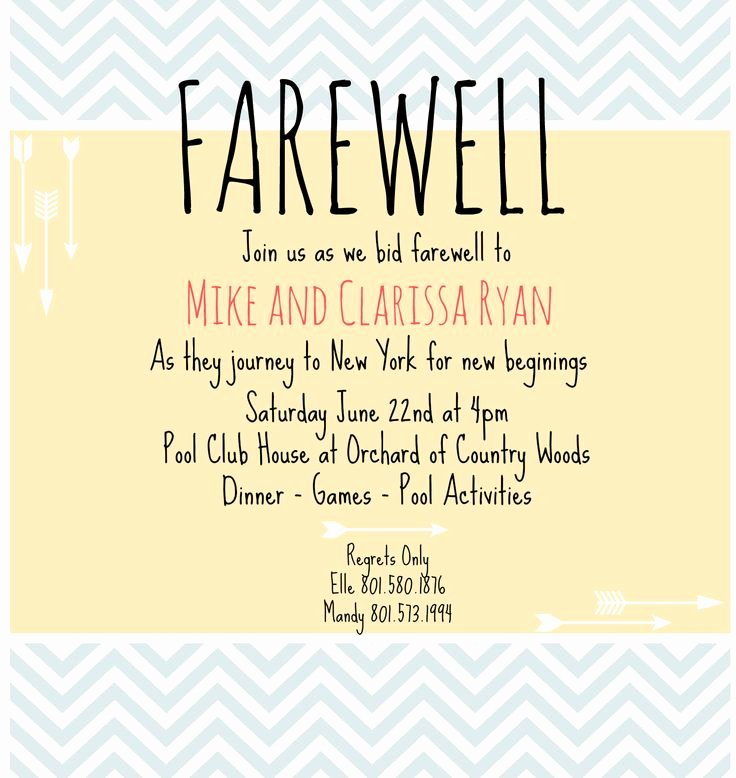 Free Farewell Invitation Template Elegant 18 Best Surprise Party Ideas Images On Pinterest