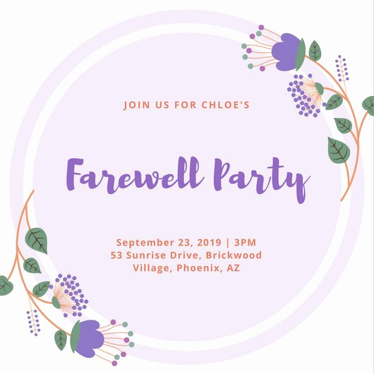 Free Farewell Invitation Template Elegant Customize 3 999 Farewell Party Invitation Templates
