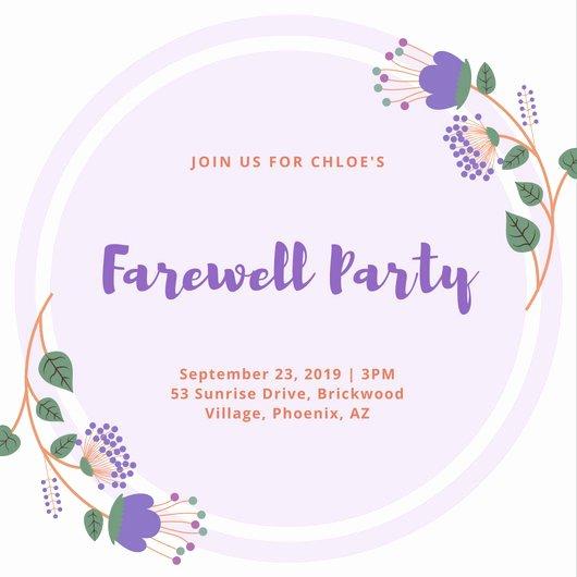 Free Farewell Invitation Template Elegant Customize 3 999 Farewell Party Invitation Templates