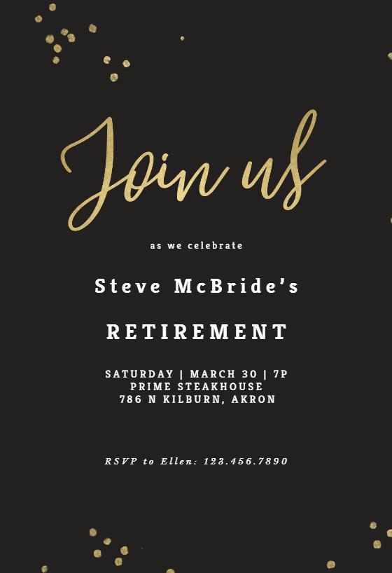 Free Farewell Invitation Template Elegant Minimal Confetti Retirement & Farewell Party Invitation