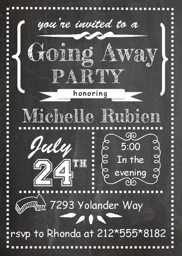 Free Farewell Invitation Template Fresh Farewell Party Invitation Template 29 Free Psd format