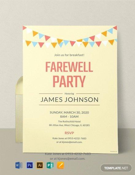 Free Farewell Invitation Template Luxury 12 Free Farewell Invitation Templates Word