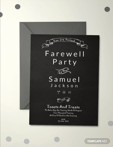 Free Farewell Invitation Template Luxury Free Vintage Farewell Party Invitation Template Download