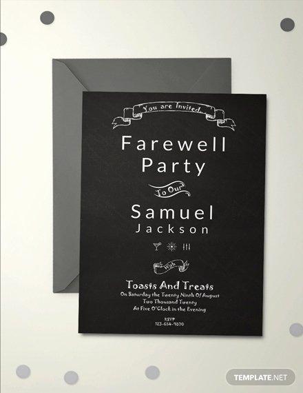 Free Farewell Invitation Template Luxury Free Vintage Farewell Party Invitation Template Download