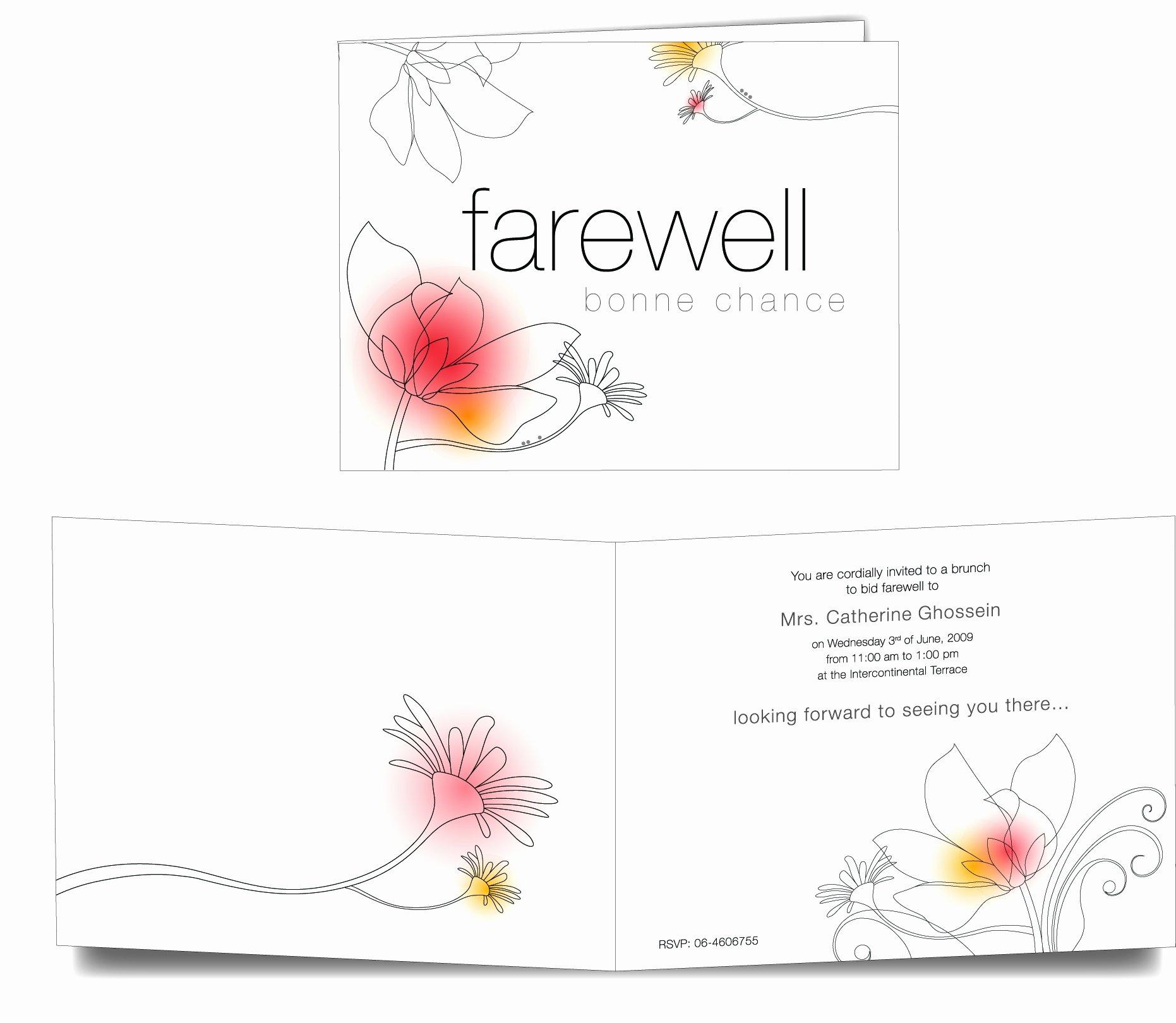 Free Farewell Invitation Template Unique Farewell Card Template 23 Free Printable Word Pdf Psd