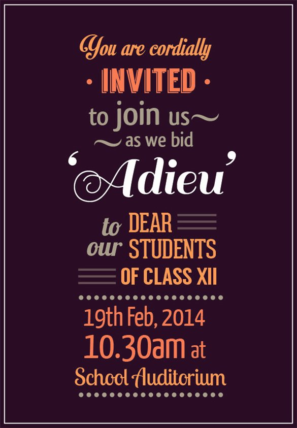 Free Farewell Invitation Template Unique Farewell Party Invitation Template – 20 Free Psd format
