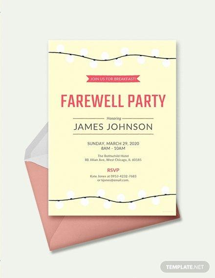 Free Farewell Invitation Template Unique Free Happy Farewell Invitation Card Template Download 518