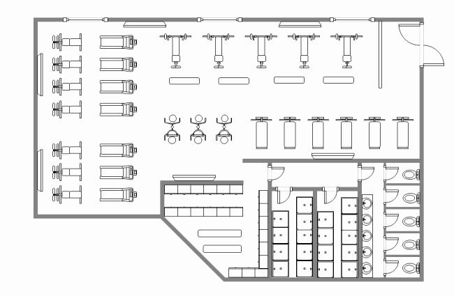 Free Floor Plan Template Inspirational Salon Floor Plan Maker Free