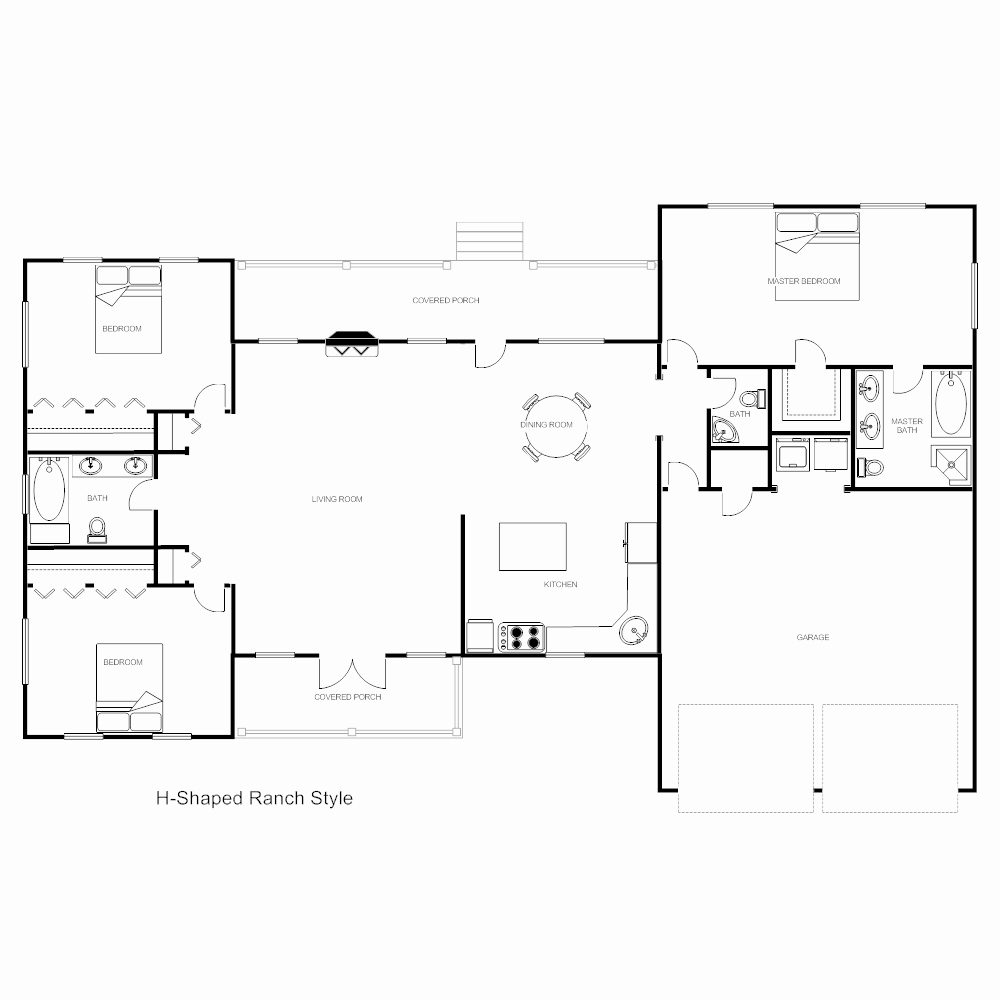 Free Floor Plan Template Luxury Floor Plan Templates Draw Floor Plans Easily with Templates