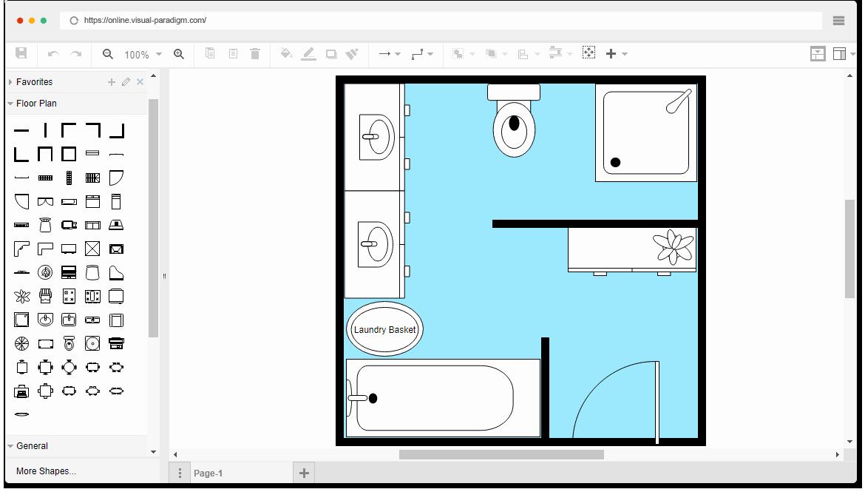 Free Floor Plan Template New Free Bathroom Floor Plan Template