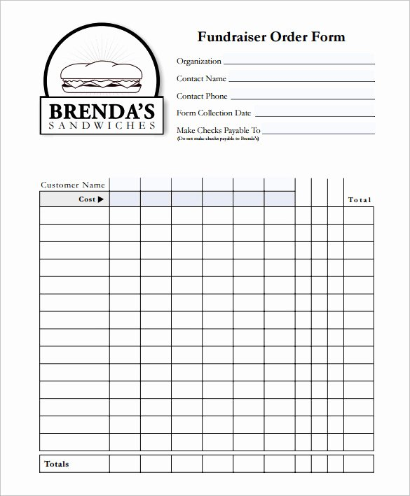 Free Fundraiser order form Template Fresh 29 order form Templates Pdf Doc Excel
