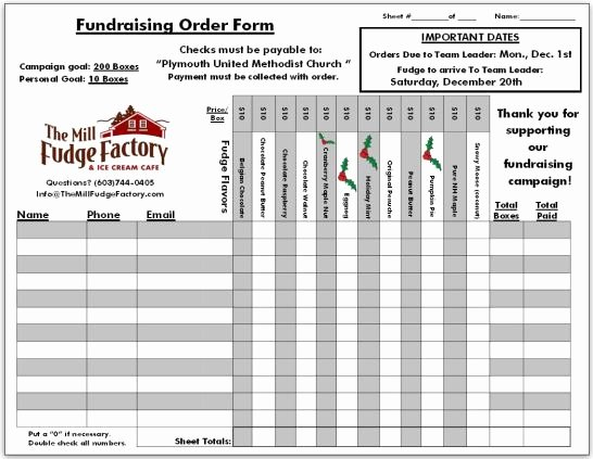 Free Fundraiser order form Template Luxury 6 Fundraiser order form Templates Website Wordpress Blog