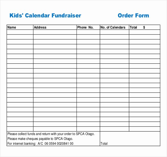 Free Fundraiser order form Template Unique 16 Fundraiser order Templates – Docs Word
