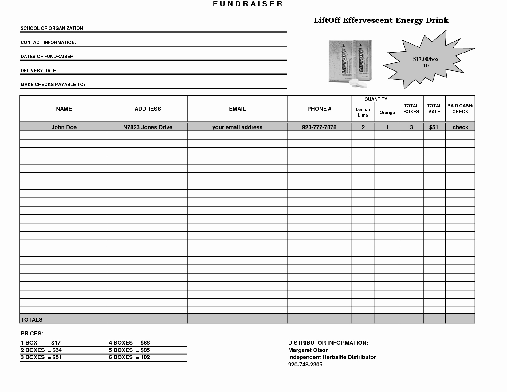 Free Fundraiser order form Template Unique Fundraiser Template Excel Fundraiser order form Template