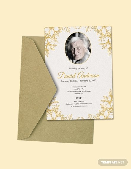 Free Funeral Invitation Template Awesome Free Simple Funeral Invitation Template Download 513