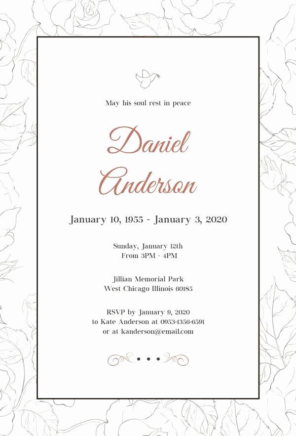 Free Funeral Invitation Template Best Of Free Funeral Invitation Templates