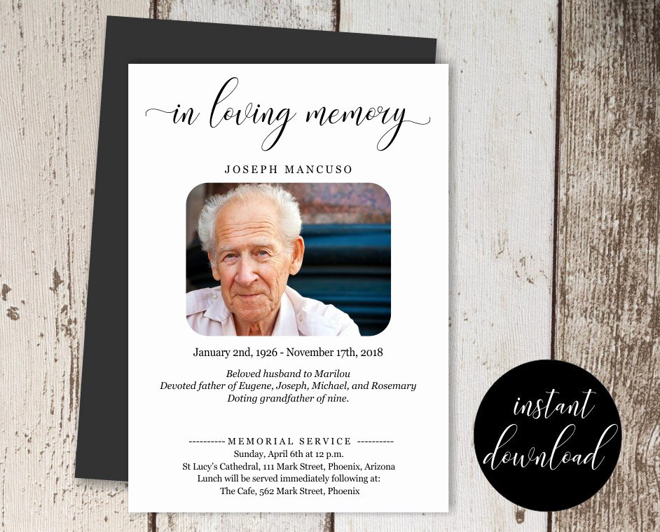Free Funeral Invitation Template Fresh 14 Funeral Announcement Designs and Examples Psd Ai
