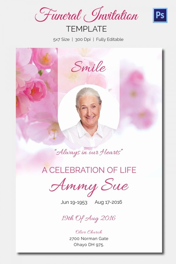 Free Funeral Invitation Template Fresh 15 Funeral Invitation Templates – Free Sample Example