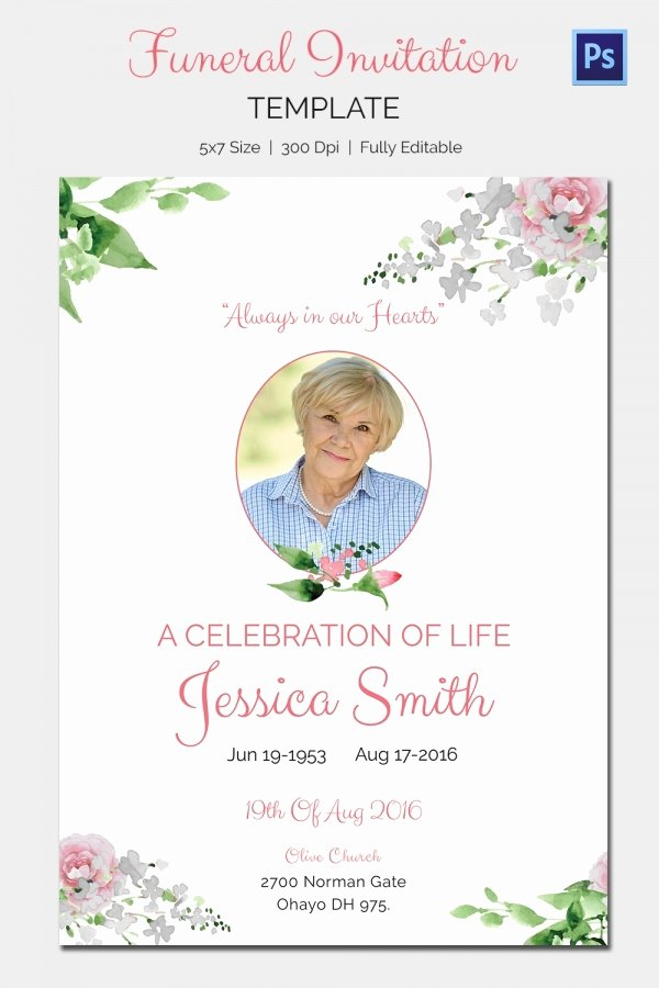 Free Funeral Invitation Template Fresh Funeral Invitation Template – 12 Free Psd Vector Eps Ai