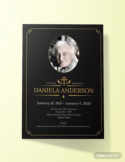 Free Funeral Invitation Template Lovely Free Simple Funeral Invitation Template Download 513