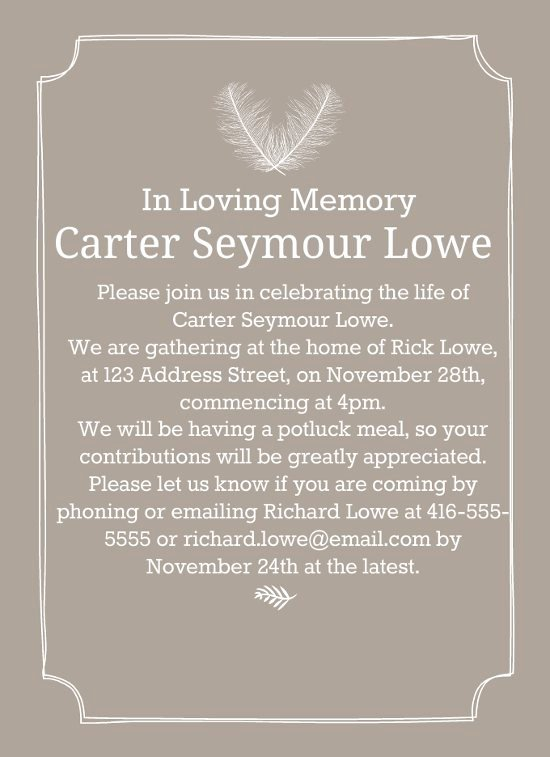 Free Funeral Invitation Template Luxury 39 Best Funeral Reception Invitations