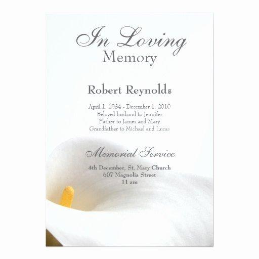 Free Funeral Invitation Template Unique Memorial Announcement
