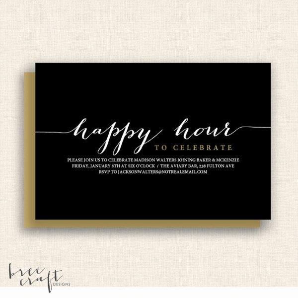 Free Happy Hour Invitation Template Awesome 14 Happy Hour Invitation Designs & Templates Psd Ai
