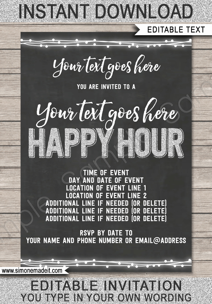 Free Happy Hour Invitation Template Awesome Happy Hour Invite Template