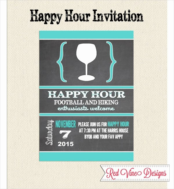 Free Happy Hour Invitation Template Best Of 14 Happy Hour Invitation Designs & Templates Psd Ai