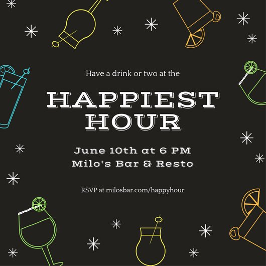 Free Happy Hour Invitation Template Best Of Customize 242 Happy Hour Invitation Templates Online Canva