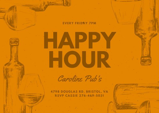 Free Happy Hour Invitation Template Best Of Customize 89 Happy Hour Invitation Templates Online Canva