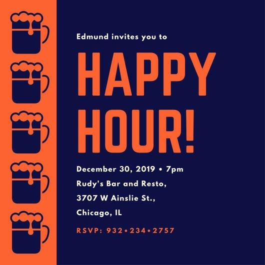 Free Happy Hour Invitation Template Elegant Customize 242 Happy Hour Invitation Templates Online Canva