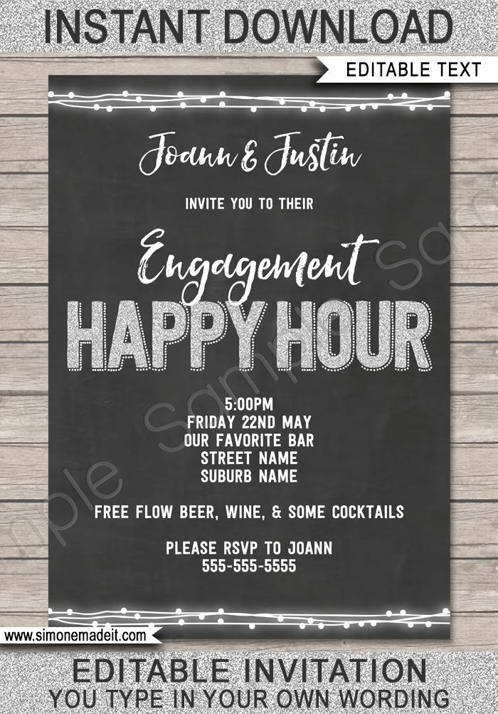 Free Happy Hour Invitation Template Elegant Happy Hour Invite Template