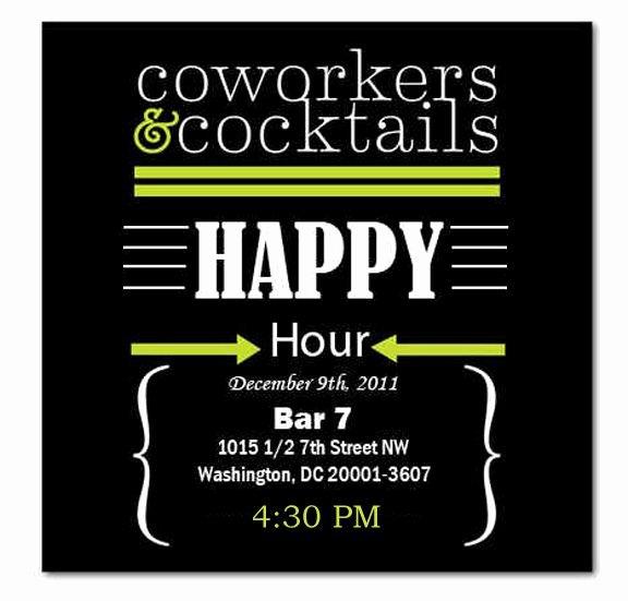Free Happy Hour Invitation Template Elegant Happy Hour Invite Wording Samples Invitation Templates