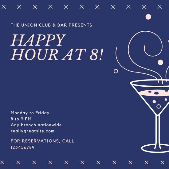 Free Happy Hour Invitation Template Fresh Customize 74 Happy Hour Invitation Templates Online Canva