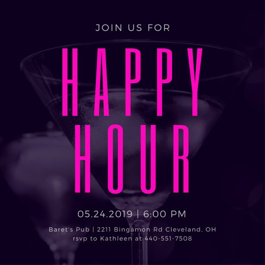 Free Happy Hour Invitation Template Luxury Customize 242 Happy Hour Invitation Templates Online Canva
