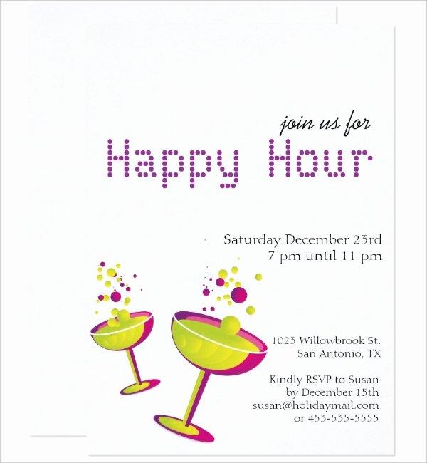 Free Happy Hour Invitation Template Unique 14 Happy Hour Invitation Designs & Templates Psd Ai