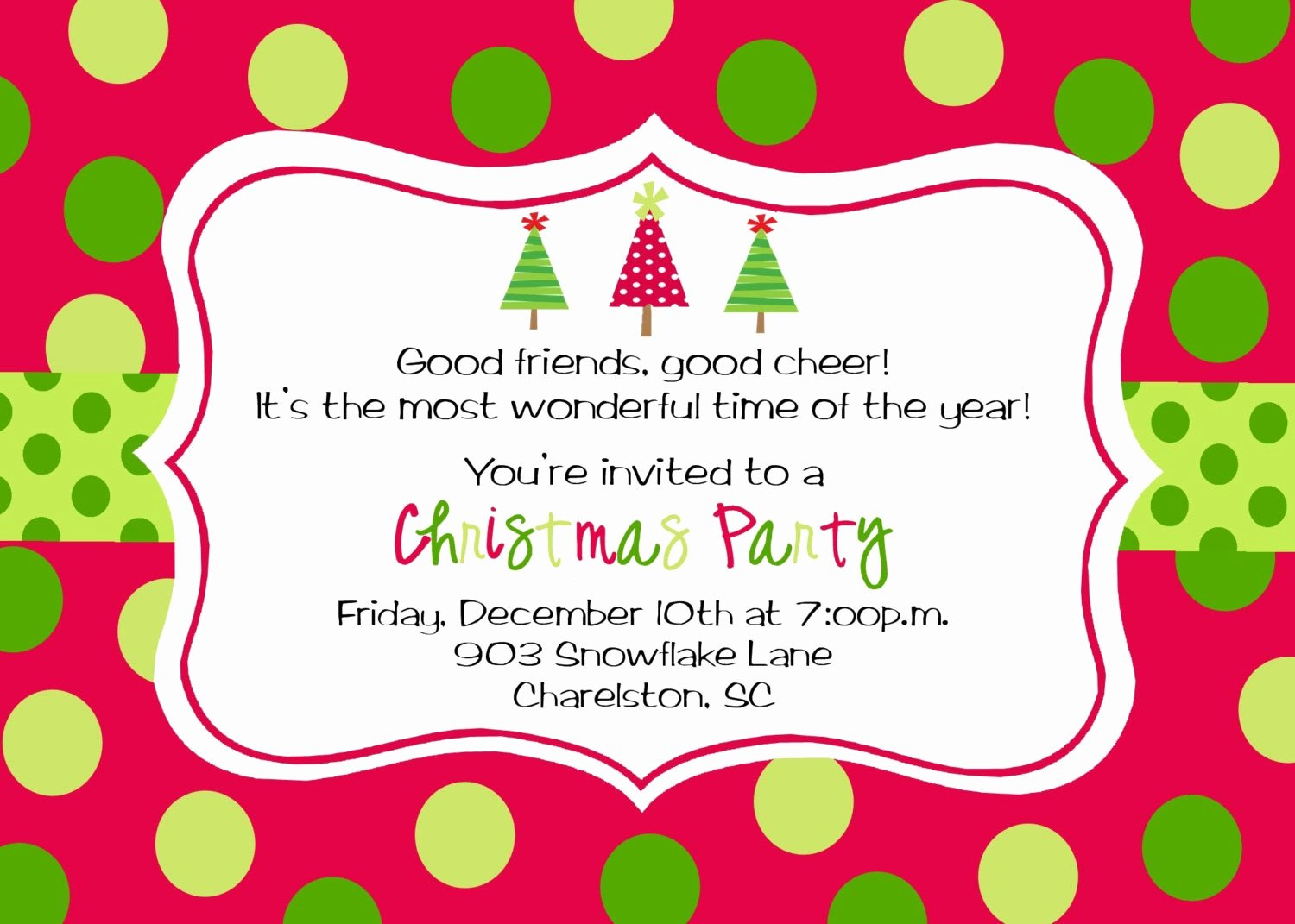 Free Holiday Party Invitation Template Beautiful Christmas Party Invitations