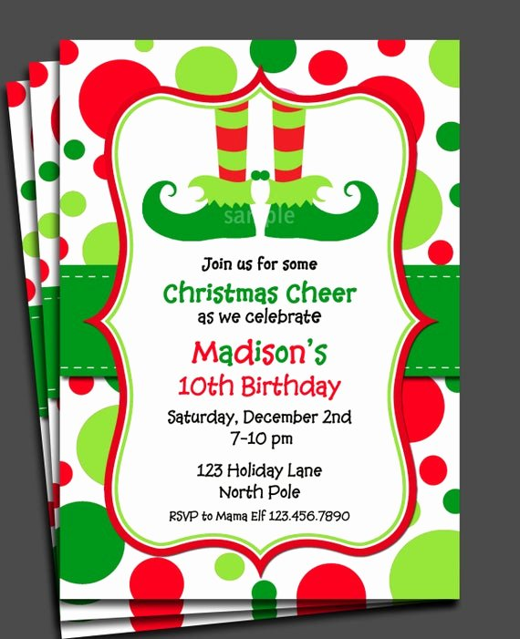 Free Holiday Party Invitation Template Beautiful Items Similar to Christmas Elf Invitation Printable or