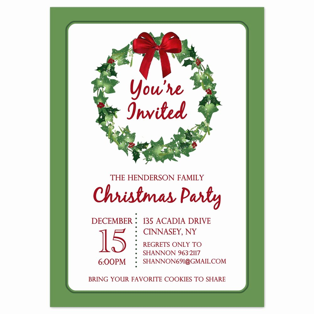 Free Holiday Party Invitation Template Elegant Printable Christmas Party Invites