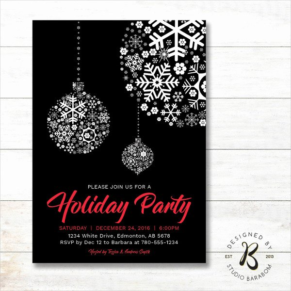 Free Holiday Party Invitation Template Fresh 20 Holiday Invitations Free Psd Vector Ai Eps format