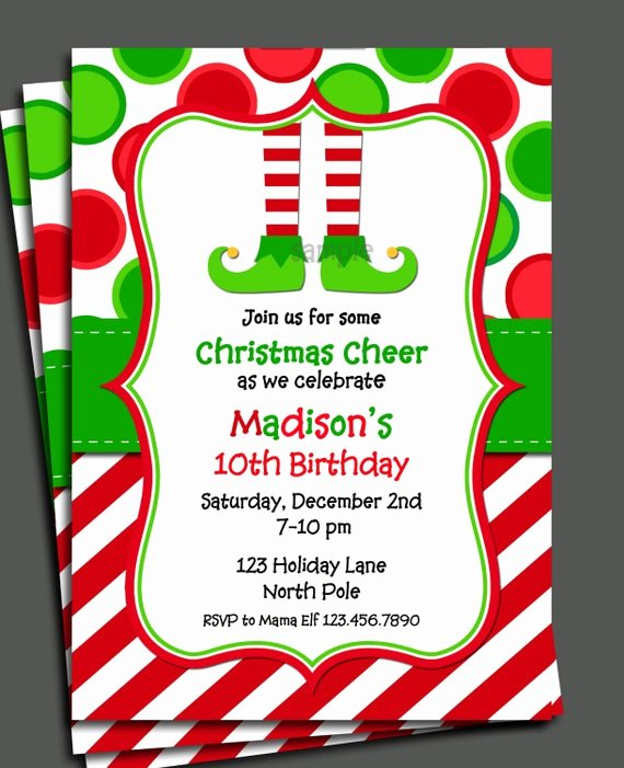 Free Holiday Party Invitation Template Lovely Items Similar to Christmas Elf Invitation Printable