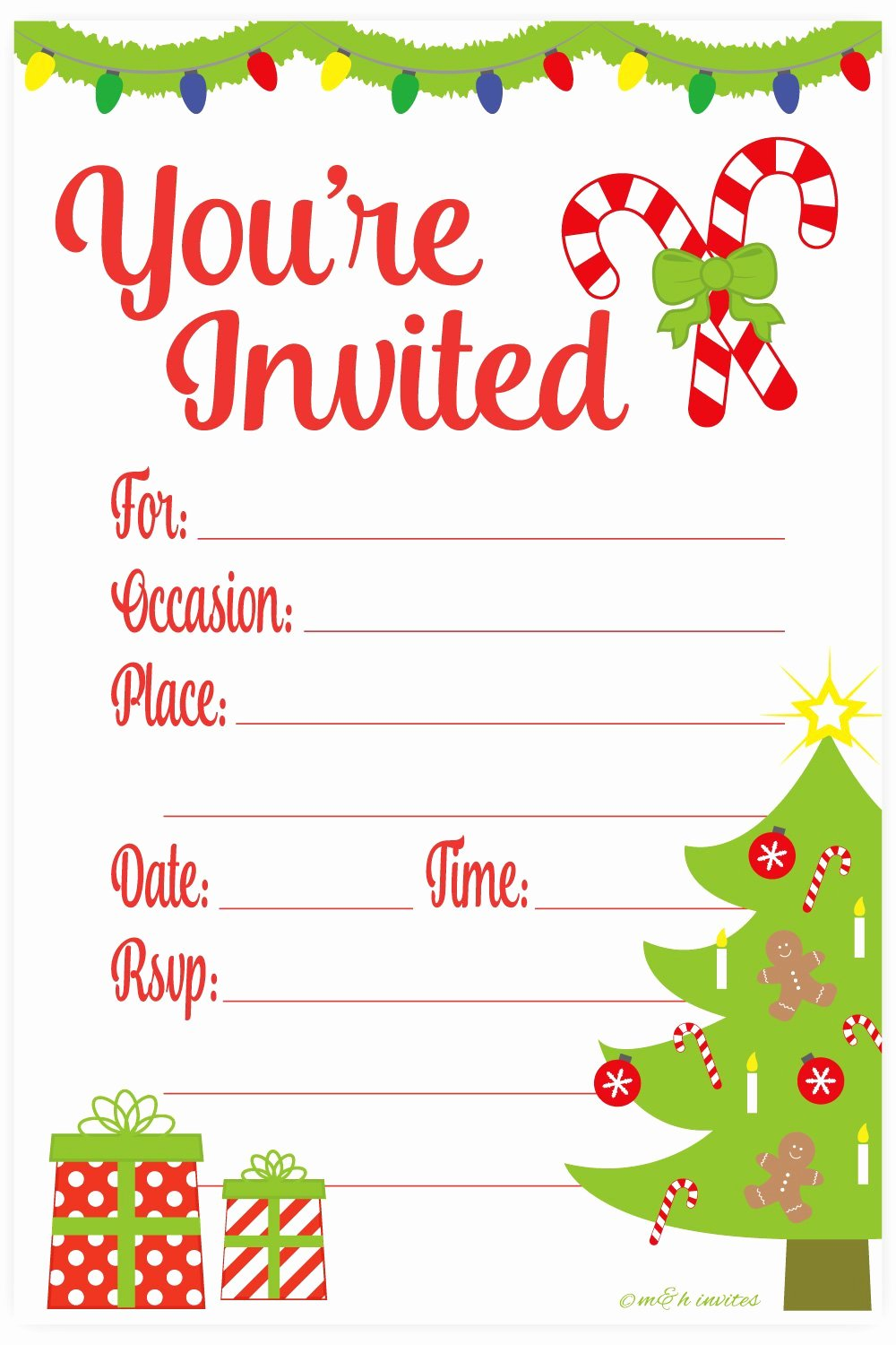 Free Holiday Party Invitation Template Luxury Amazon Snowflake Classic Christmas Invitations Fill