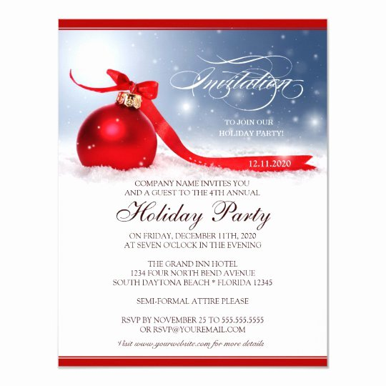 Free Holiday Party Invitation Template Luxury Corporate Holiday Party Invitation Template