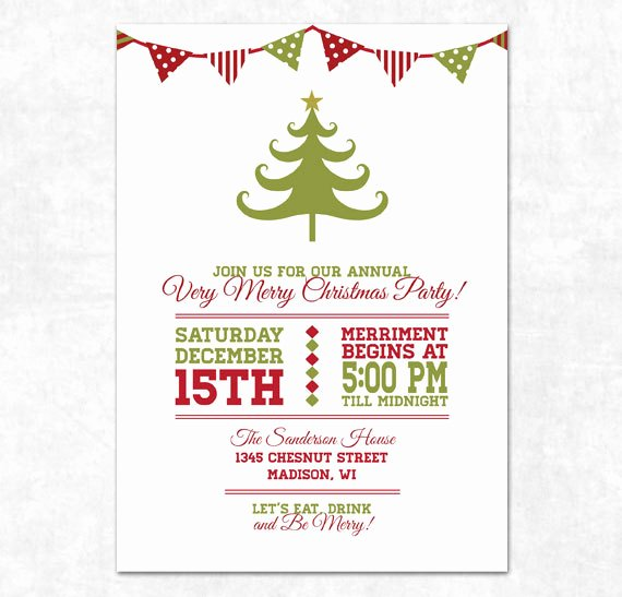 Free Holiday Party Invitation Template New Items Similar to Printable Christmas Invitation Holiday