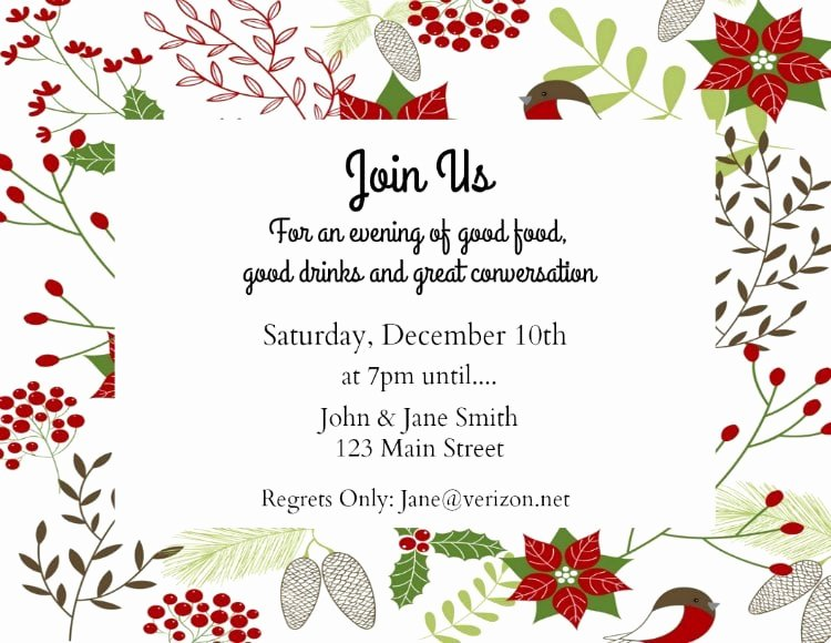 Free Holiday Party Invitation Template Unique Make Your Own Holiday Invitations Free Printables